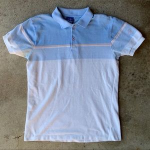 Vintage 80s Ocean Pacific Polo Shirt Striped Tee
